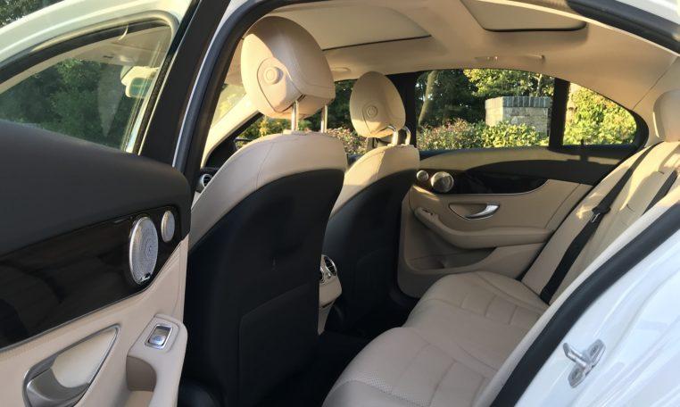 Mercedes C300 Back Seat
