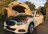 Mercedes E350 Under Hood